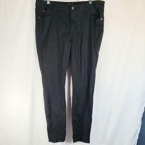 Sofia Vergara Jet Black Skinny Jeans Size 18